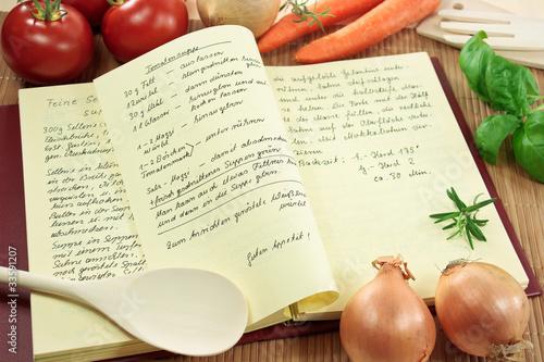 Leinwanddruck Bild Kochbuch