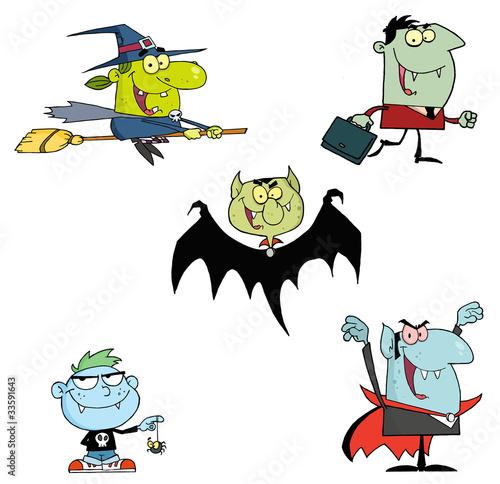 幽灵性质恐怖庆祝活动插图收集昂热月有趣的漫画男孩