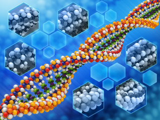 Dna Analysis concept background 01
