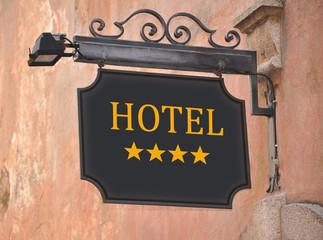 Hotel schild 4 Sterne