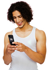Fashion model text messaging