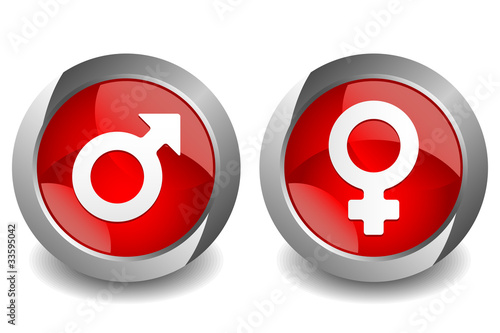 Man Woman Sign Button