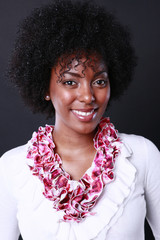 Cute african american's portrait