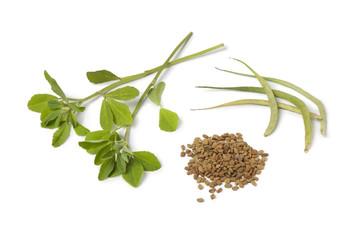 Fenugreek leaves,pods and seeds