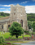 Ancient parish church hasting england poster