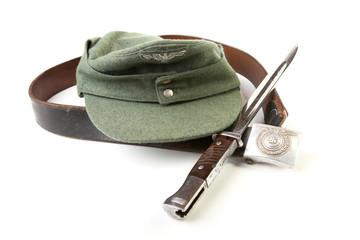 Kepi  belt  bayonet-knife of the German soldier  isolation