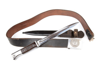 German belt and bayonet-knife isolation