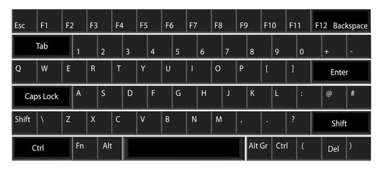 Computer keyboard illustration