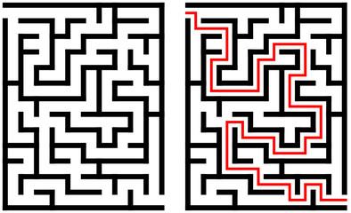 Labyrinth mit Lösung
