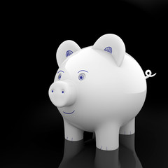 Tirelire cochon décorée