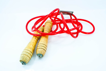 red jumping rope