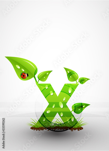 Vector green letter background