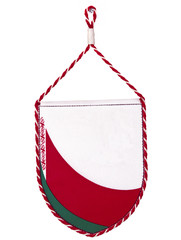 Belorussian nice bright funny pennant or triangle flag of Belaru