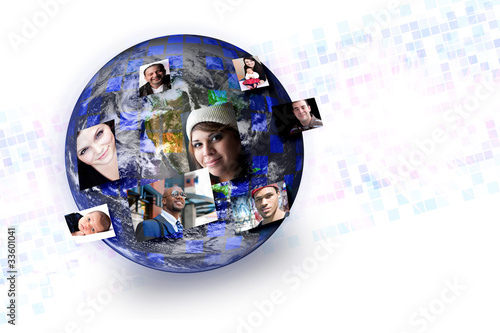 Social Media People Global Networking Connections