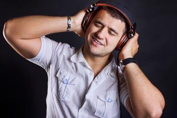 Handsome boy with headphones