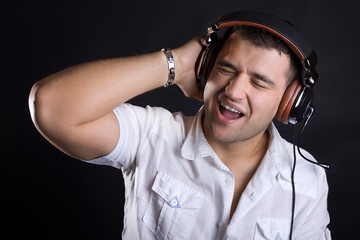 Happy cute DJ
