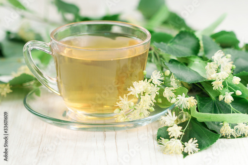 Cup of linden tea