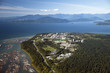 Aerial view of Vancouver, UBC and sea