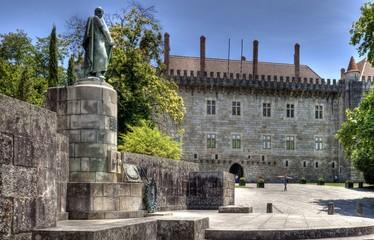 Paço dos Duques de Bragança, Guimarães, Portugal.