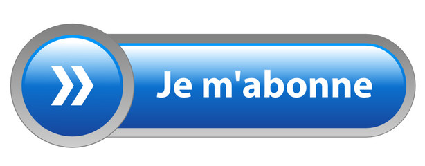 "Bouton Web ""JE M'ABONNE"" (s'abonner abonnement inscription bleu)"