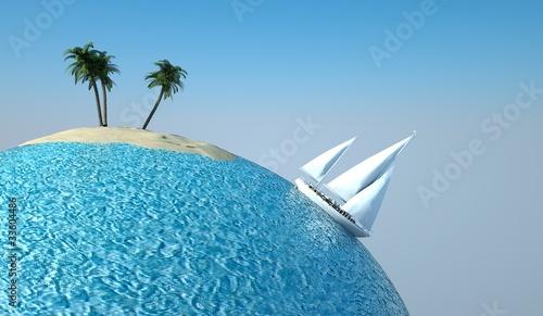 Fototapeta glob - ziemia - Morze / Ocean
