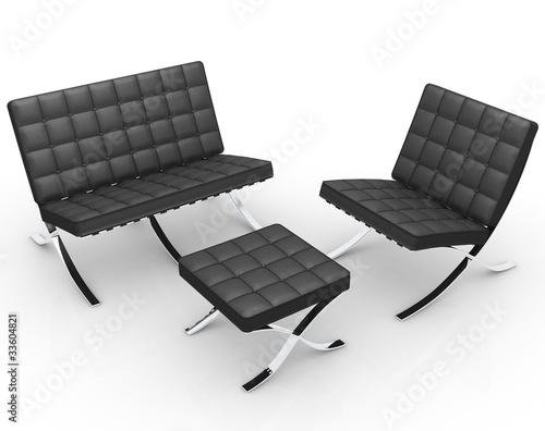 Leinwandbild Motiv barcelona chair