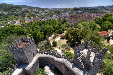 View of Guimarães from the Castle, Portugal.