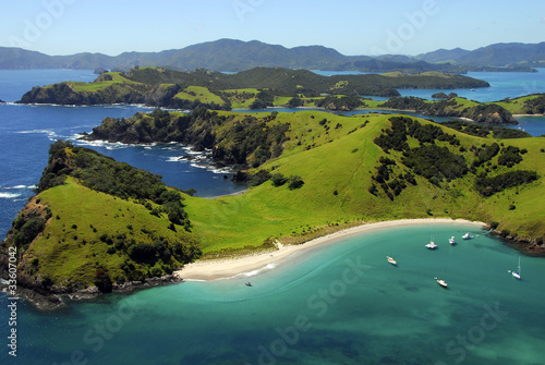 Foto op Aluminium Australië Aerial of Waewaetorea Passage, Bay of Islands, New Zealand
