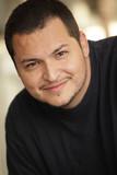 Handsome Latino man poster