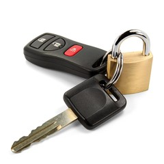Autoschlüssel mit Schloss