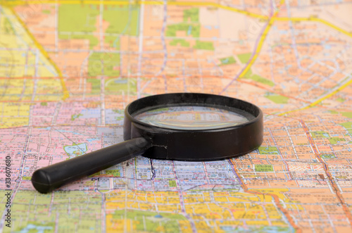 Map and magnifier