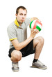 sporty man  with ball