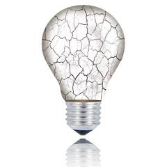 lampadina con vetro rotto