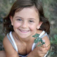 été : un bouquet d'insouciance (fille 5-6 ans)