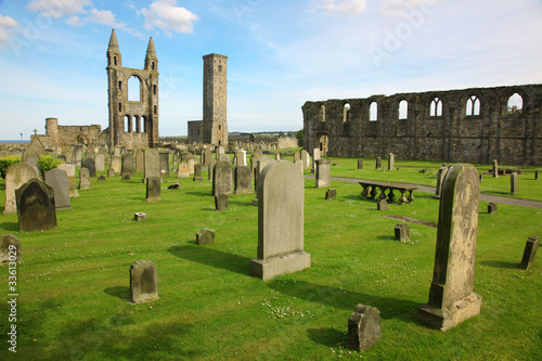 St Andrews cathedral grounds, Scotland, GB