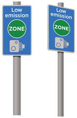Low carbon emissions zone sign