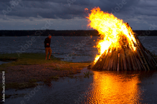 Nordic Midsummer Party bonfire