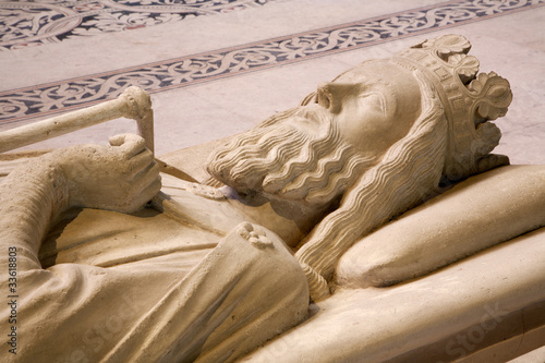 Paris - Tomb of king  from Saint Denis gothic cathedral