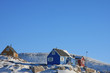 Colourful houses in small Greenlandic village