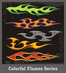 Colorful Flames Vector Series