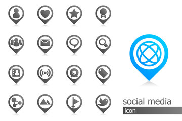 Social Media Icons in Black