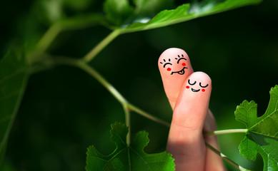 finger smileys in nature.