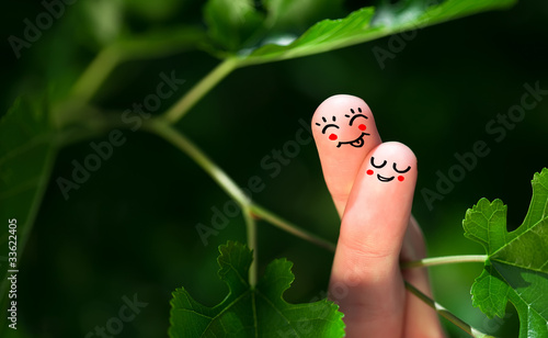 finger smileys in nature.