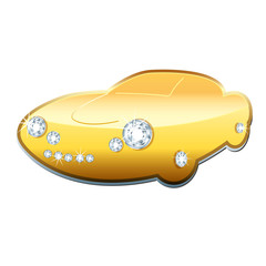 Exclusive Car with Gold and Diamonds