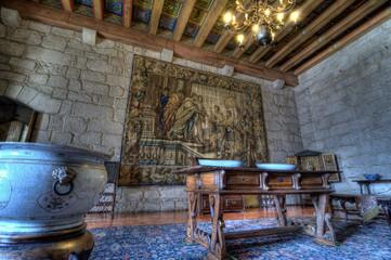 Dukes Palace of Bragança Interior, Guimarães, Portugal.