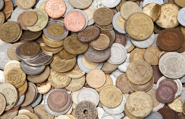 Different countries coins