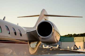 Corporate Jet Engine and Tail