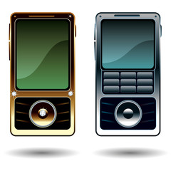 Diamond_Phone_Gold_Silver