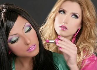 Lipstick fashion girls makeup retro