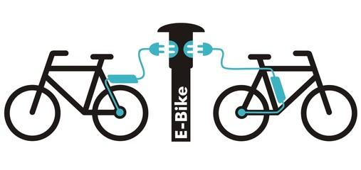 Symbol für E-Bike-Ladestation